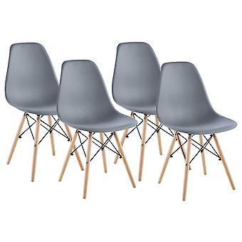 Grijze Matera stoel, set van 4 Saska Garden