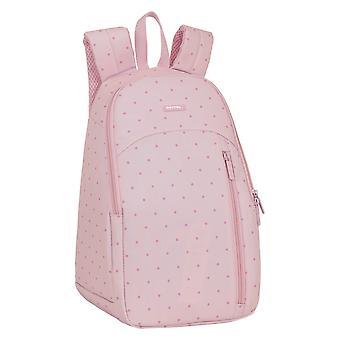 Cooler Backpack Topos Safta Pink Polyester 18 L