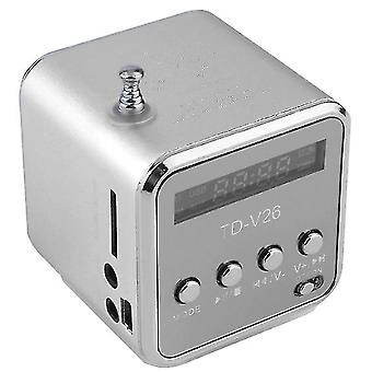 Digital Aluminum Internet Radio Mini Speaker - Fm Receiver Sd Usb Play Stereo