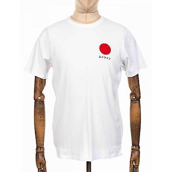 Edwin Jeans japanska solen Tee - vit
