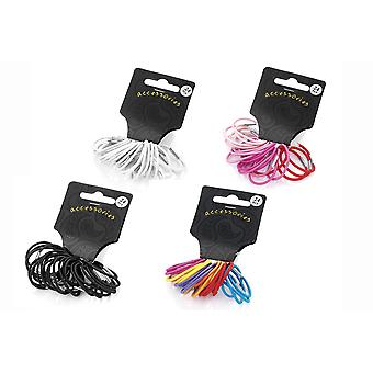 24 Piece Mini Hair Elastic Set Various Colour
