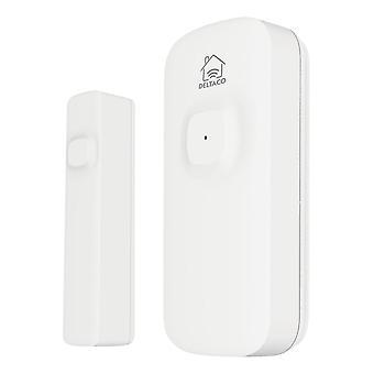 DELTACO SMART HOME, drahtloser Magnetsensor, WiFi, weiß