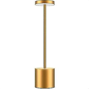 Night lights ambient lighting cordless led table lamp portable usb rechargeable golden