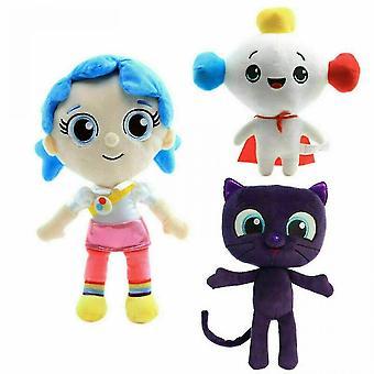 Rainbow Kingdom Peluche Toy Bartleby Cat Zee Cumulo Fared Doll Gift(Bleu)