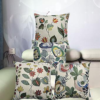 Pakkaus 4 tyyny kattaa kukka ruoho kuvio ylellinen sametti kuitu heittää tyynynpäälliset tyynyliinat 18x18 tuumaa