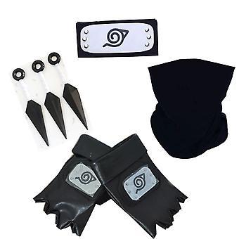 Anime Naruto Headband Set Kakashi Mask Performance Props Halloween Costumee