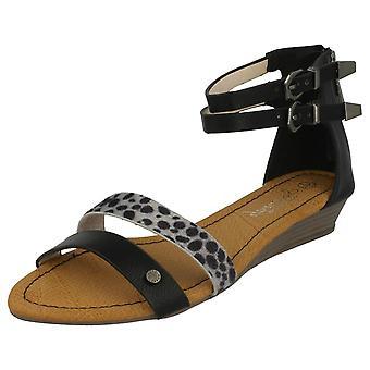 Ladies Savannah Low Wedge Sandal 'F10220'
