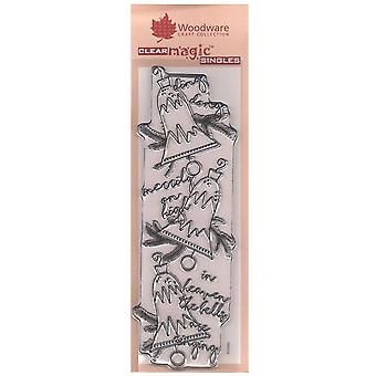 Woodware Clear Stamps Heavenly Bells Banner*^^
