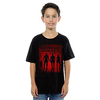 Marvel Boys Guardians Of The Galaxy Shadows T-Shirt