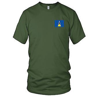 Saint Lucia landets nasjonale flagg - brodert Logo - 100% bomull t-skjorte Kids T skjorte