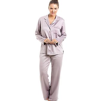 Camille luxueux vison pleine longueur Satin Pyjama Set