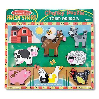 Melissa & Doug Farm Animal Chunky Puzzle