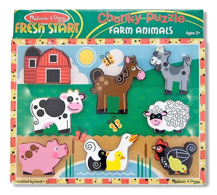 Melissa & Doug Farm Animal Chunky Puzzle