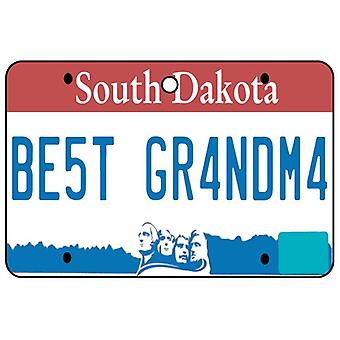 South Dakota - Best Grandma License Plate Car Air Freshener