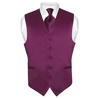 גברים ' s אפוד שמלה & עניבה עניבה מוצק להגדיר טוקסידו חליפה