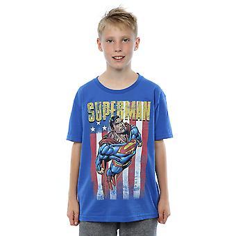 Meninos do DC Comics Superman voo t-shirt