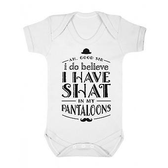 FLOSO Baby Girls/Boys Good Sir, I Do Believe Short Sleeve Bodysuit