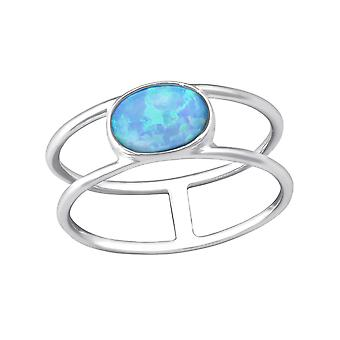 Oval - plata de ley 925 Jewelled anillos - W35381x