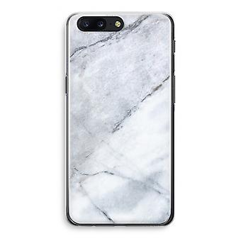 OnePlus 5 Transparant Case (Soft) - Marble white