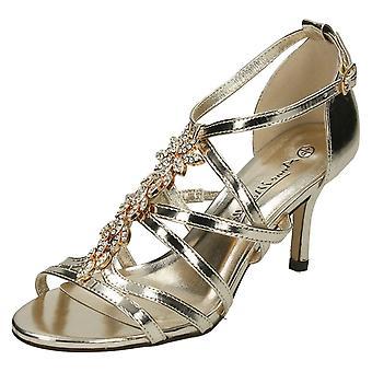 Kära Anne Michelle mitten av hälen Strappy sandaler F10582