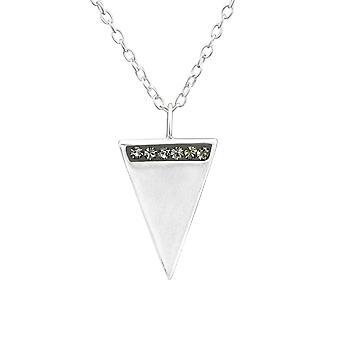 المثلث--925 فضة جولد قلادات-W37637x