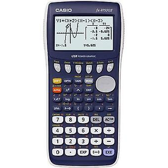 Casio fx-9750GII Graphing calculator Dark blue Display (digits): 21 battery-powered (W x H x D) 87.5 x 21.3 x 180.5 mm