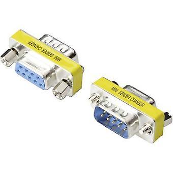 Digitus Series Adapter [1x D-SUB-Stecker 9-polig - 1x D-SUB Buchse 9-polig] 0,00 m Silber