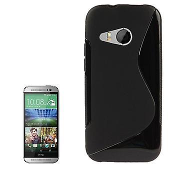 モバイル ケース TPU 保護ケース HTC 1 つミニ 2 ブラック