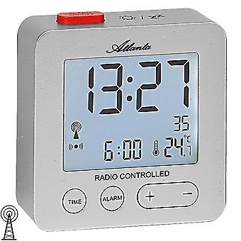 Wekker radio alarm klok digitale zilver met licht temperatuur