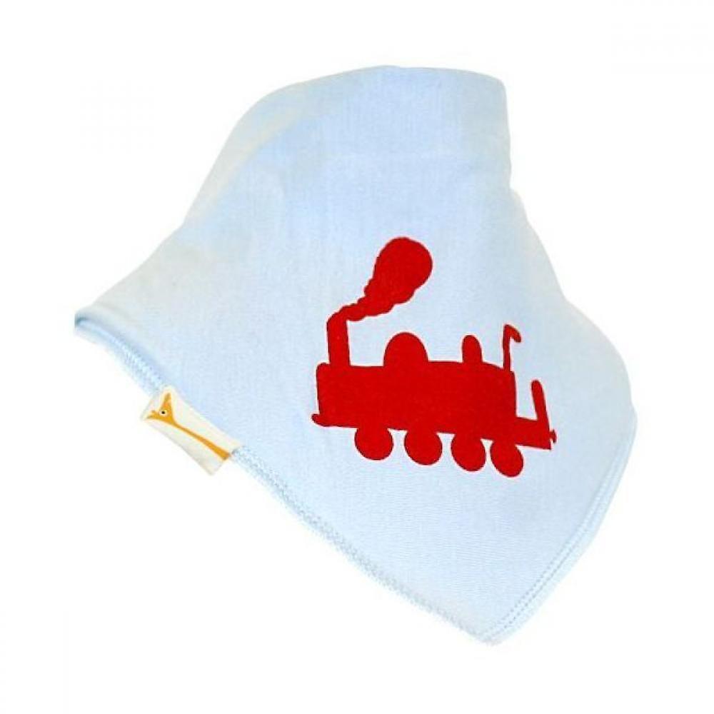 Blå & röd choo choo bandana bib