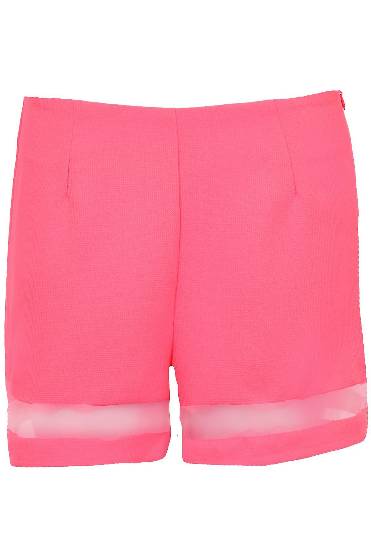 Hyvät Mesh Panel lyhythihainen Party naisten kuvioitu Neon alkuun ja shortsit