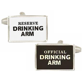 Zennor juominen Arm kalvosinnapit - musta/valkoinen
