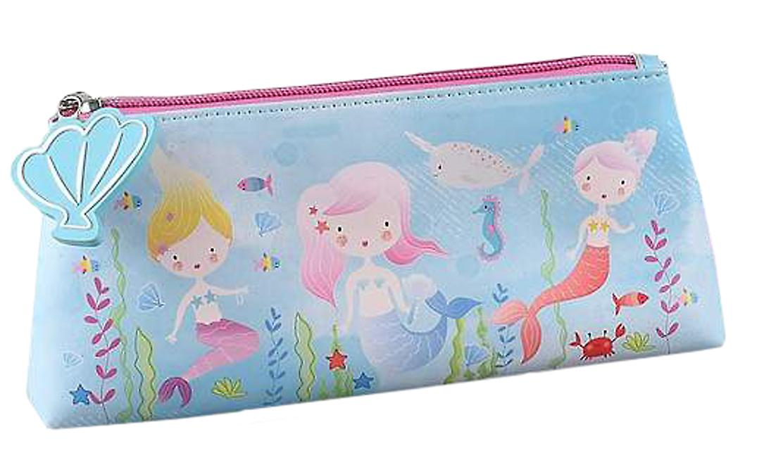 Girls blue mermaid pencil case
