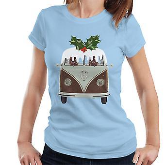 Official Volkswagen Christmas Pudding Camper Women's T-Shirt