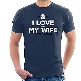 ストームトルーパーの元妻は、私のメンズ t シャツはドレスアップをことができます。