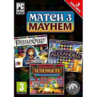 Match 3 Mayhem Puzzle Quest Alexandria Serengeti (PC CDROM) - Neu