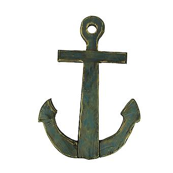Distressed Finish Wooden Nautical Anchor Wall Hanging