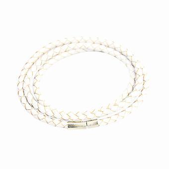 Armband Leder Slim-White F2821WH04