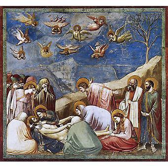 De Lamentatie van Christus, GIOTTO di Bondone, 50x50cm