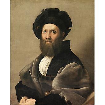 Portrait of Count Baldassassins Castiglione, Raphael, 50x40cm