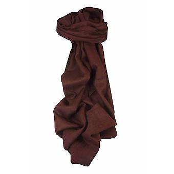 MENS Fine Cashmere Scarf Rosewood by Pashmina & Silk