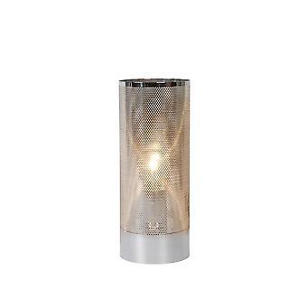 lucide Beli moderne cylindre métal chromé lampe de Table