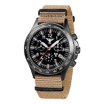 KHS horloges mens watch zwarte peloton titanium chronograaf KHS. BPTC. NT