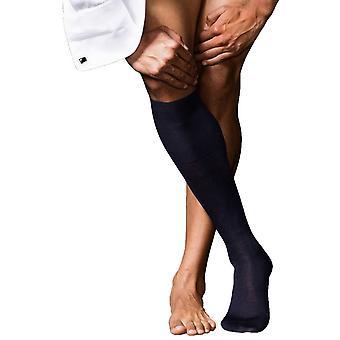 Falke No6 feinster Merinowolle und Seide Knie hohen Socken - dunkelblau