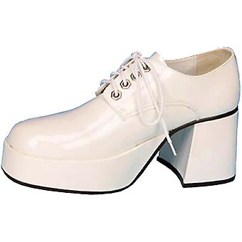 Shoe Platform Wht Pat Men Sm
