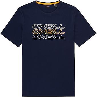 Camiseta O'Neill hombres ~ azul Logo de Triple