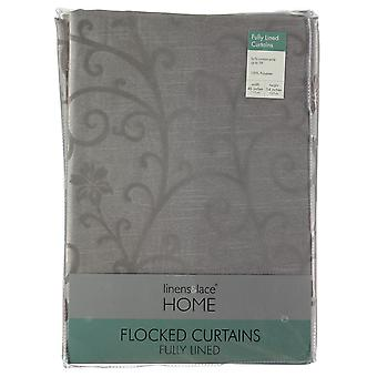 Linens and Lace Unisex Flocked Trail Curtains