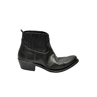 Golden Goose G33ws292a1 Women's Black Leather Ankle Boots