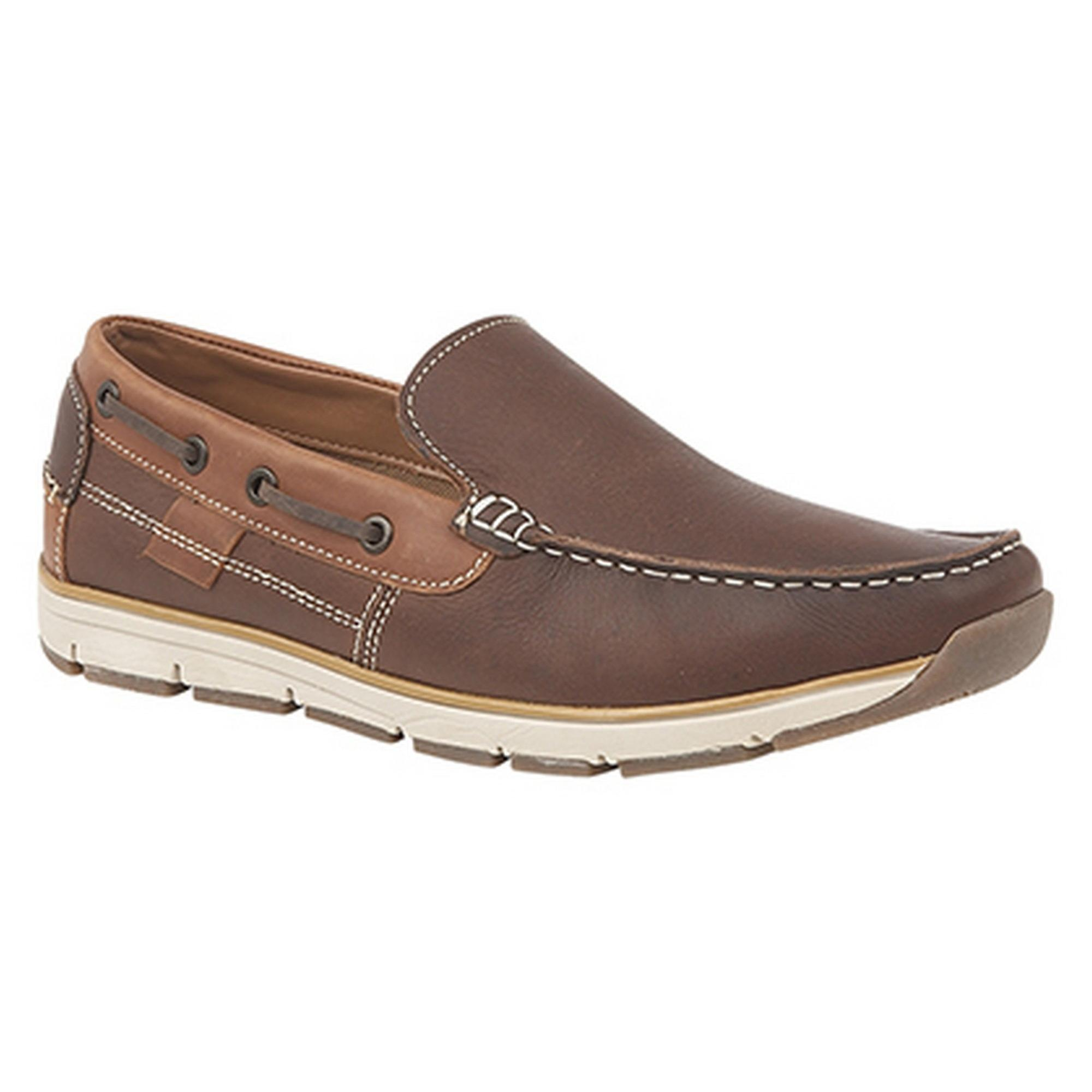 Roamers Superlight Mens Leather Slip On Apron Tab Moccasin Leisure Shoes ECcDnm