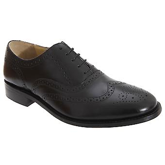 Kensington Classics Mens Premium Argentinian All Leather Wing Cap Brogue Oxford Shoes